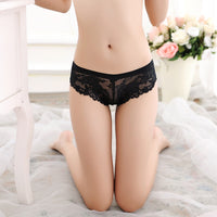 's Sexy Lingerie Lace Thong Seamless Transparent Panties