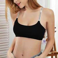 Fitness Sexy Seamless Removable Padded Casual Letter Print Bra