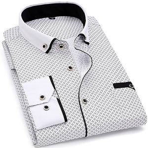 Men Fashion Slim Fit Male Business Dress Shirt