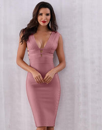 New Fashion Deep V-Neck Sleeveless Night Dress