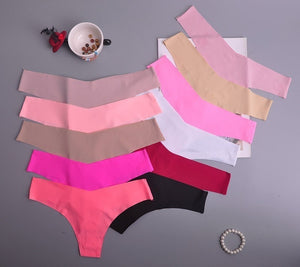 Hot Silk Sexy Low-Rise Thongs in Cute Colors
