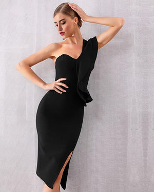 Fashion Elegant Black Summer Celebrity Evening Party Dress