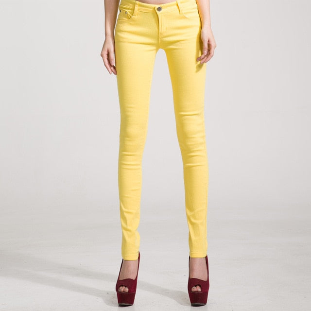 New Candy Jeans Pencil Slim Casual Female Stretch Pants