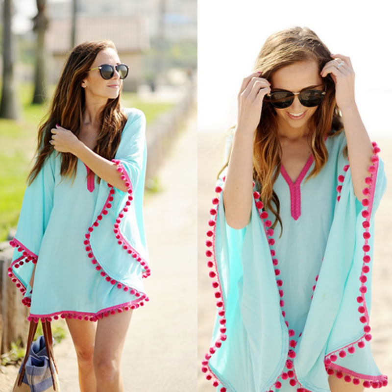 Summer Chiffon Tunic Beach swimwear tunic Sundress Bikini Cover-Up