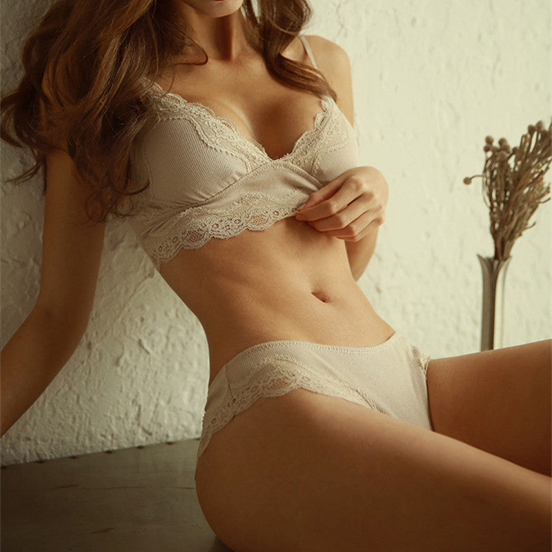 New Fashion Cotton Romantic Temptation Bra And Panty Set