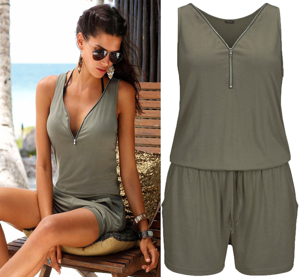 Women Summer Rompers Jumpsuit Beach Casual Beach Shorts