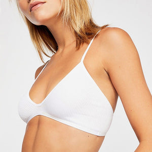 New Cotton Comfortable Wire free Thin Unpadded Breathable Sexy Bra