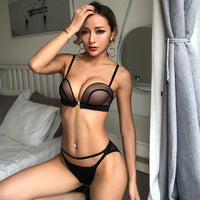 New Sexy, Luscious Gathering Seamless Push Up Front Closure Lingerie Set