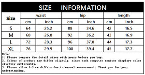 High Quality Denim Sexy Summer Cool High Casual Skirt, size chart