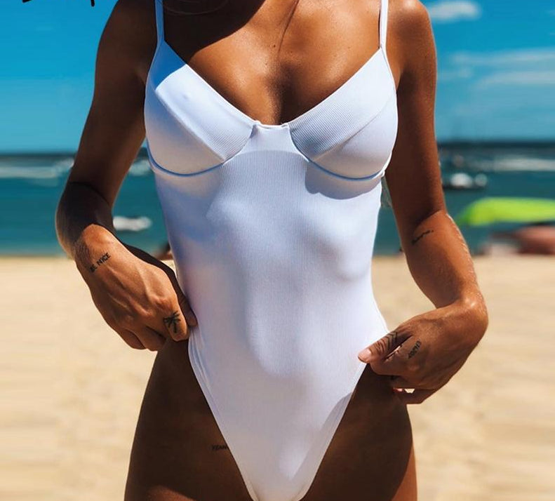 Sexy one piece bodysuits bikini swimwear