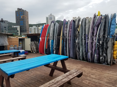surfboard storage in korea