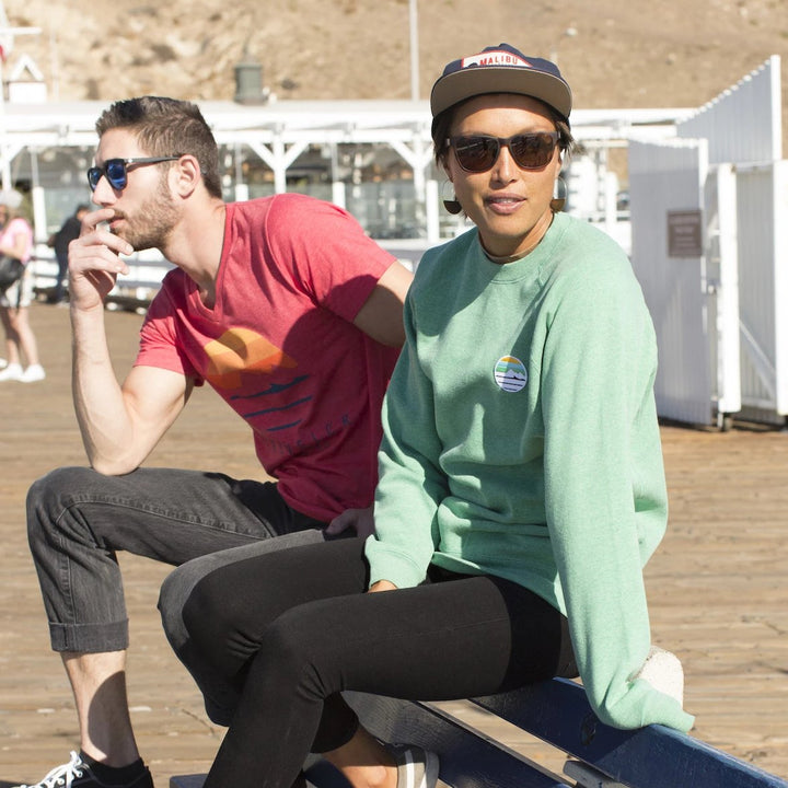 Traveler Patch Crewneck Sweatshirt - Sea Green