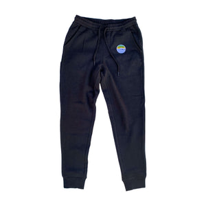 Traveler Patch Sweatpants - Black