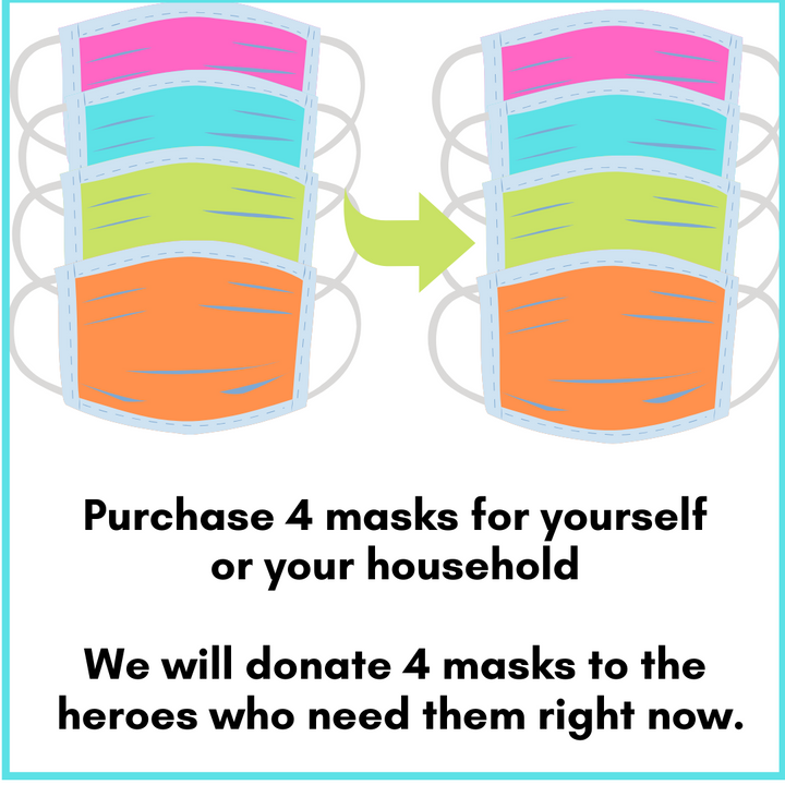 Buy 4 Masks for You, We'll Donate 4 Masks for Heroes