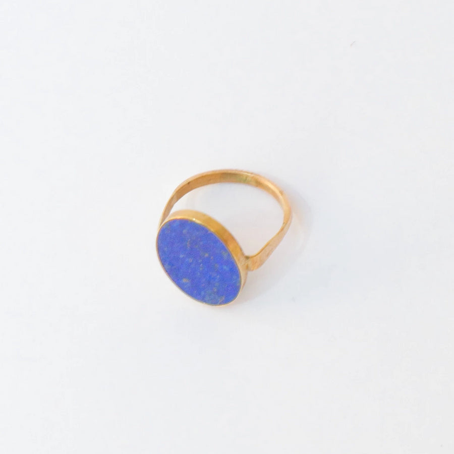 9K Gold Lapis Ring
