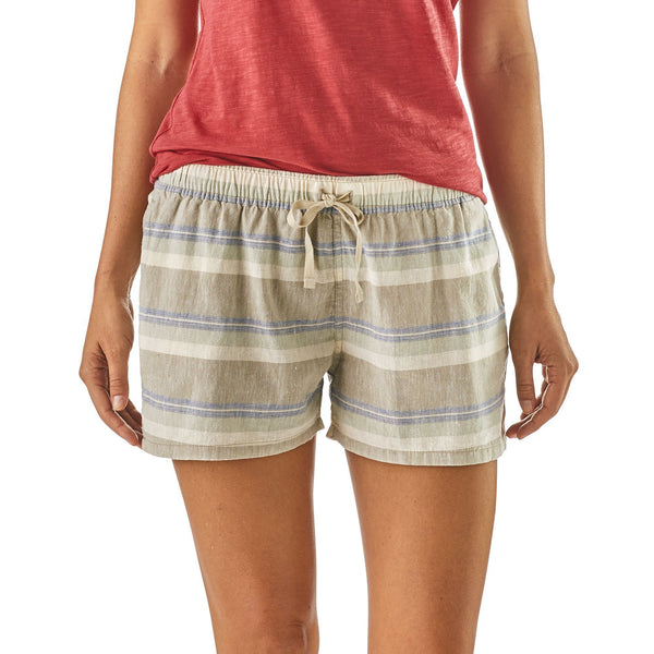 Women's Island Hemp Baggies- Shoreline Stripe