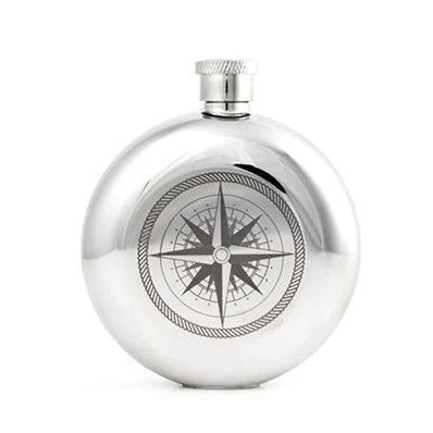 5oz. Canteen Compass Flask