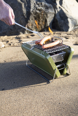 Portable BBQ Briefcase Grill - Green