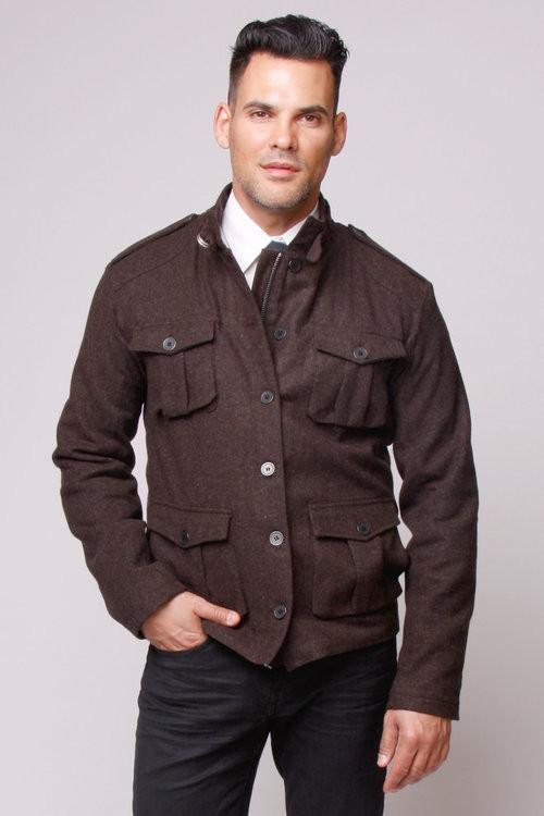 Carline Field Coat: Tobacco Wool