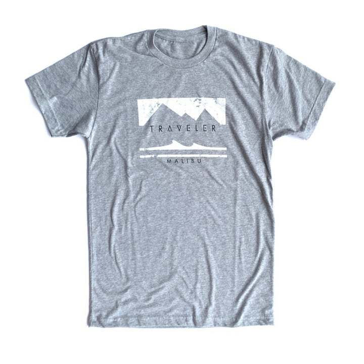 Traveler Malibu Rectangle Logo Tee - Heather Grey
