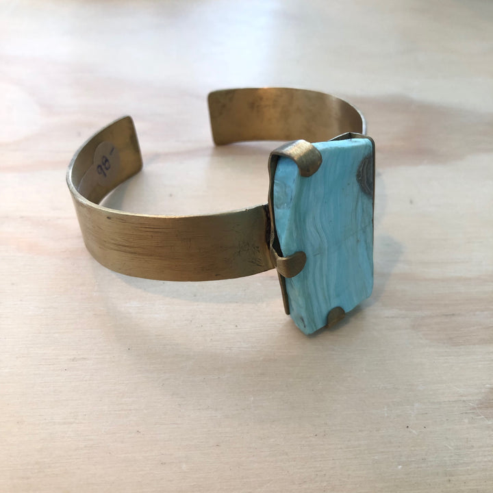 Aegean Blue Aragonite Cuff