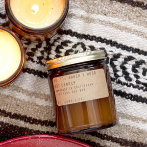 Amber and Moss Soy Candle