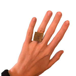 Brass Square Top Ring