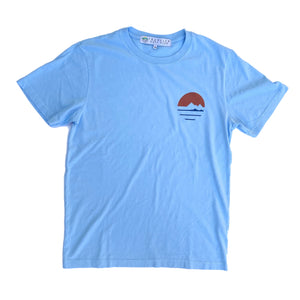 Traveler Logo Tee - Ocean  Made in CA