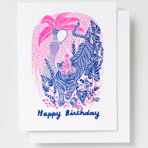 Happy Birthday Tiger Neon Card