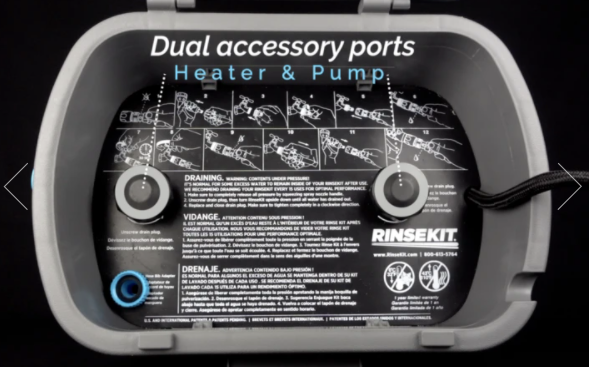 RinseKit Plus with Pressure Booster Pump