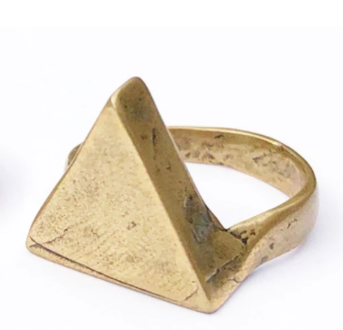 Solid Brass Triangle Ring
