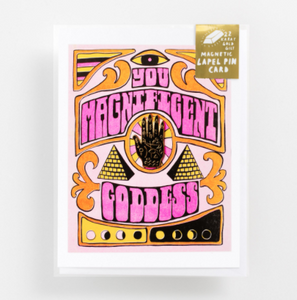 Magnificent Goddess Lapel Card