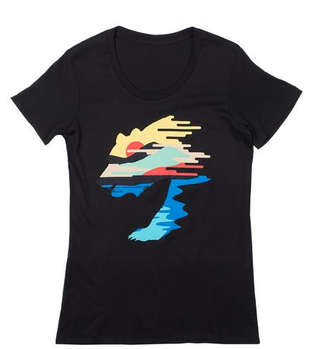 Women's Sunset Bear Tee
