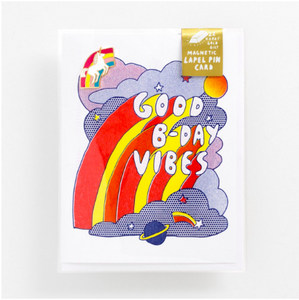 Good B-Day Vibes Lapel Pin Card