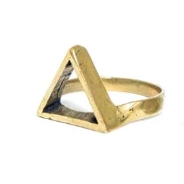 Open Triangle Brass RIng