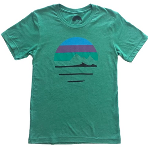 Traveler Logo Crewneck Tee - Heather Green