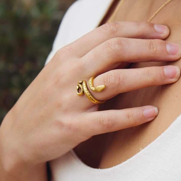 Golden Serpent Ring