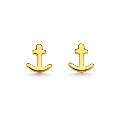 Gold Anchor Studs