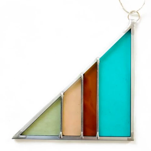 Small Triangle Stained Glass