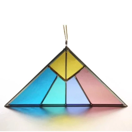 Pyramid Triangle Suncatcher