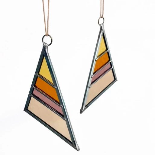 Large Triangle Stained Glass