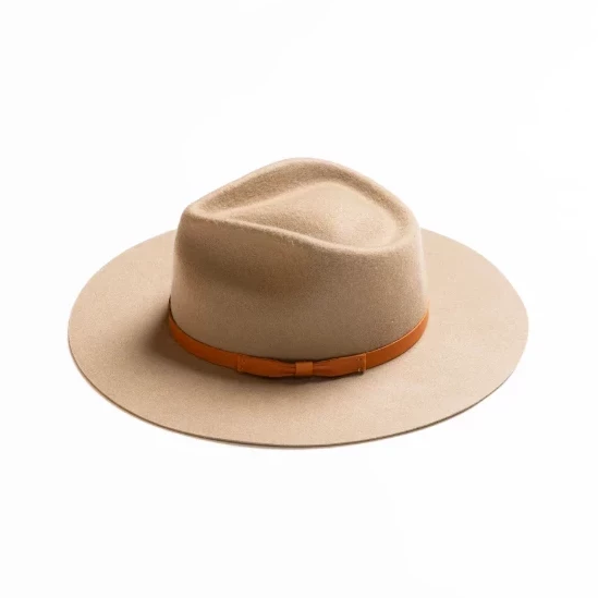 Dylan w/ Leather Bow Fedora - Putty