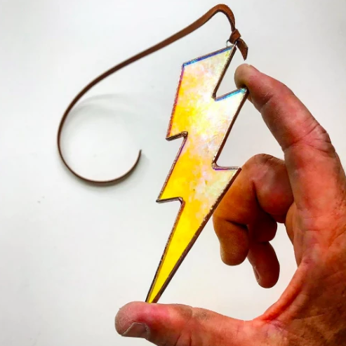 Lightning Bolt Stained Glass