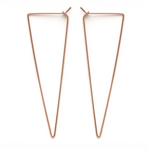 Rose Gold Triangle Hoops