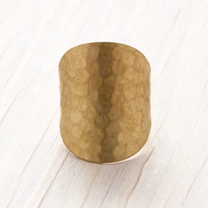 Hammered Cuff Ring