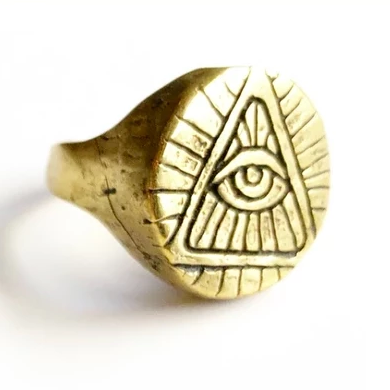 Third Eye Brass Ring