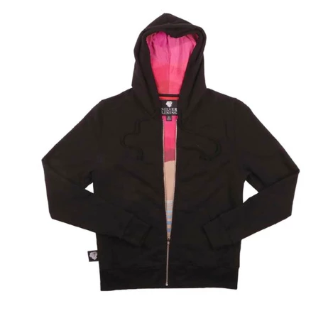 California Black Zip Hoodie - Kelly Ording Lining