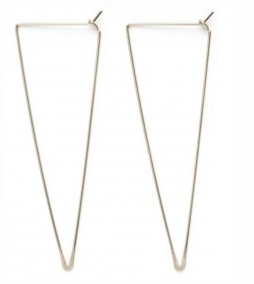 Triangle Hoops- Sterling Silver