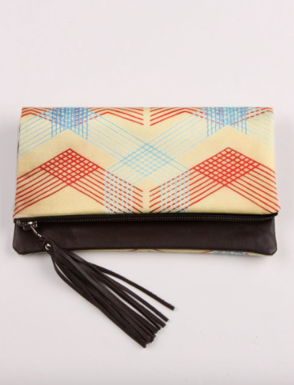 Kahlo Leather Clutch