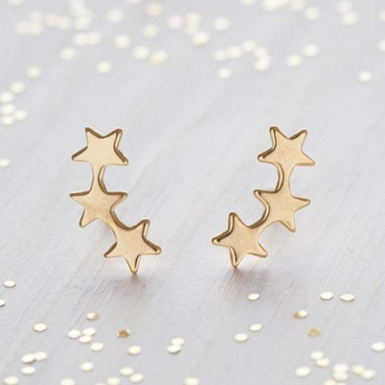 Star Cluster Studs - gold